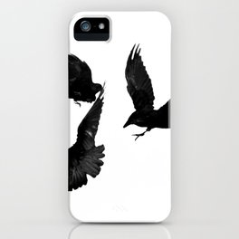 A Trio of Crows iPhone Case