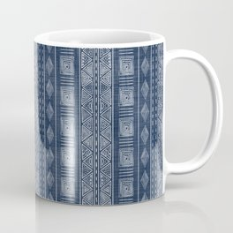 Mudcloth Inspired Navy Blue Small Scale Pattern Coffee Mug