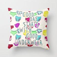 Underwear Happiness Throw Pillow