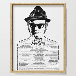 Jake Blues Brothers tattooed 'Four Fried Chickens' Serving Tray