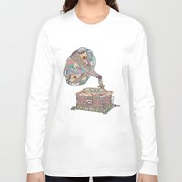 retro Long Sleeve T-shirts featuring SEEING SOUND by Bianca Green