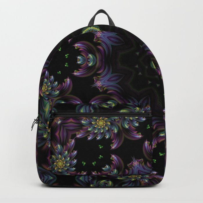FRACTAL KALEIDOSCOPE YELLOW FLOWER 2 Backpack