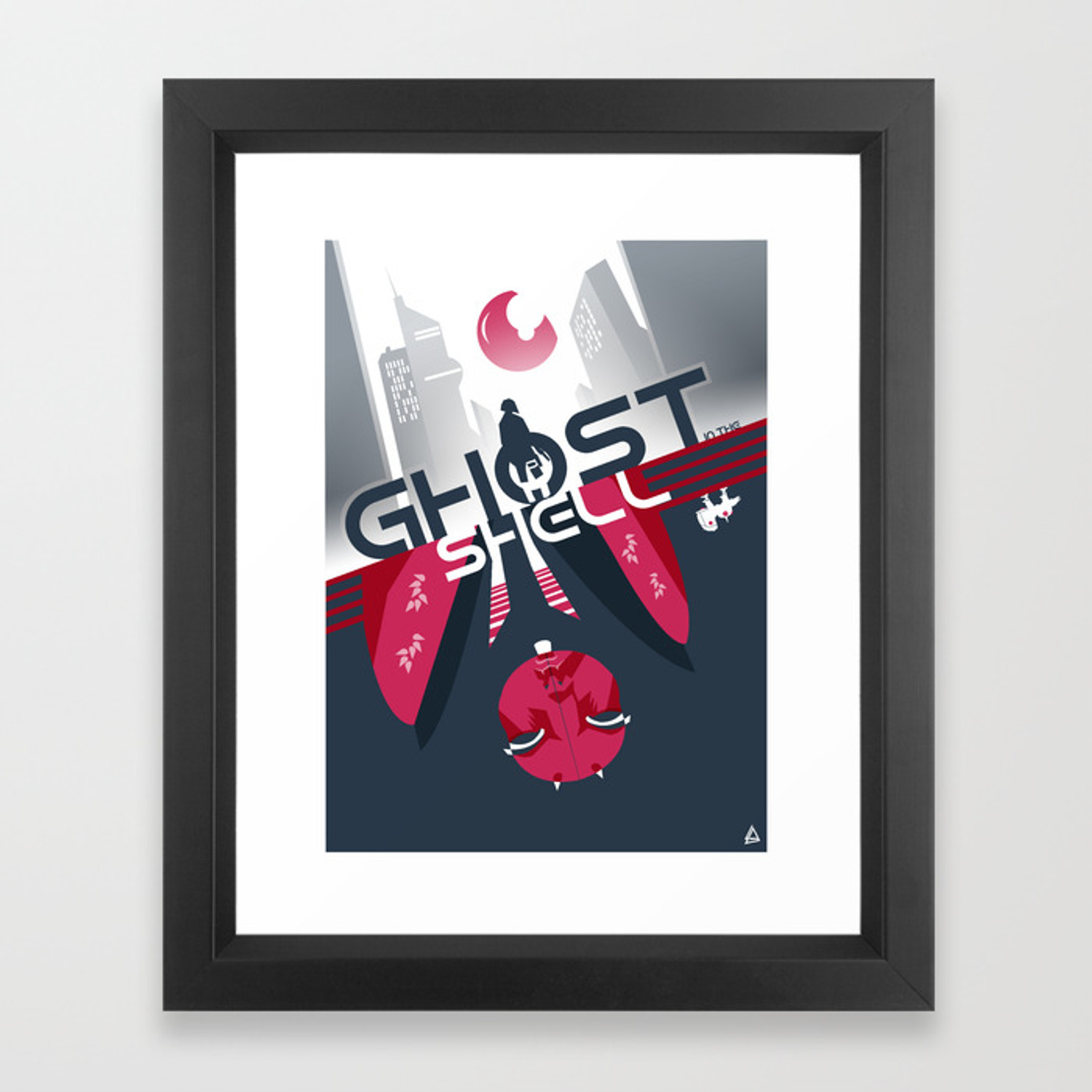 Ghost In The Shell Minimalist Poster Framed Art Print By Loweakgraph Society6