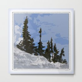 WINTER SPIRES Metal Print