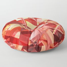3D folded abstract Floor Pillow