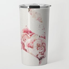 Flowery Woman Silhouette Travel Mug