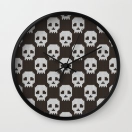 Knitted skull pattern Wall Clock