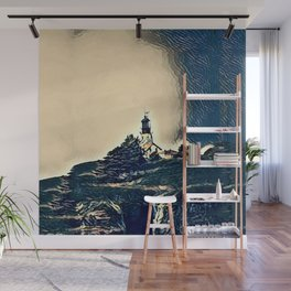 A Light In The Tempest Wall Mural