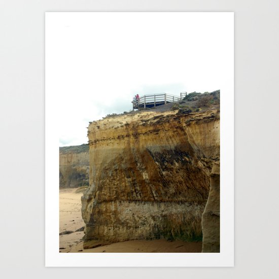 A large lookout in comparison to the Cliff Art Print