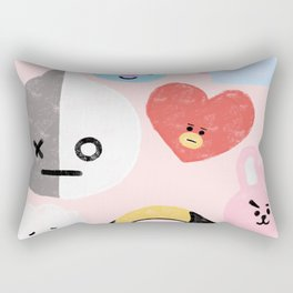 BTS21 Characters in Pastel Rectangular Pillow