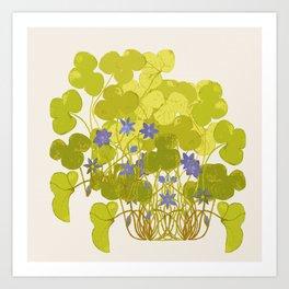 Plant life in violet palette Art Print