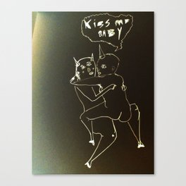 kiss me baby Canvas Print