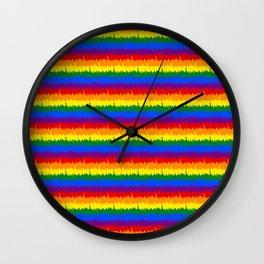 Mini Manhattan Skyline NY Pride Rainbow Stripe Wall Clock