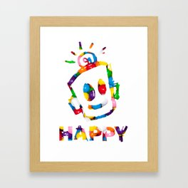 HAPPY GUMBALLS Framed Art Print