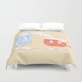 Milky Couple Duvet Cover