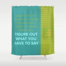 CIDER SPOON  Shower Curtain