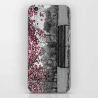 cherry blossom iPhone & iPod Skins featuring Cherry Blossom by Claire Doherty