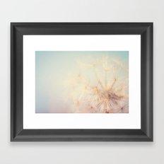 dandelion dreams ... Framed Art Print
