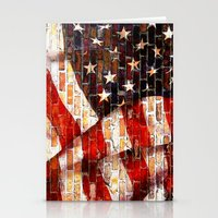 flag Stationery Cards featuring Flag by Urlaub Photography