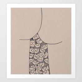 Things That Are Cute: Butts n Kitties Art Print