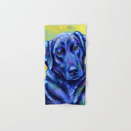 Colorful Labrador Retriever Dog Hand & Bath Towel