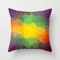 jamaica Throw Pillows featuring Jamaica by Oleg Zodchiy