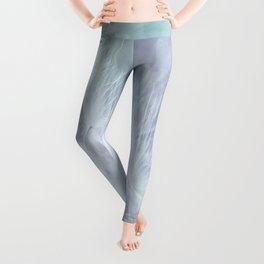 Whimsical Blue Dandelion Leggings