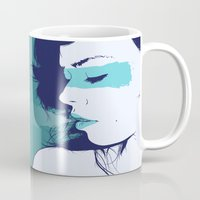 breathe Mugs featuring Breathe by Wolves In Space