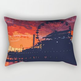 Sunset in Santa Monica, California Rectangular Pillow