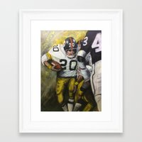 steelers Framed Art Prints featuring Rocky by Genest Hockey Art