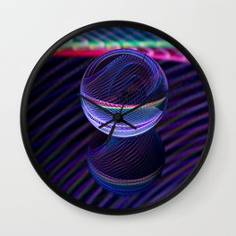 Checkered lines in the glass ball Wall Clock