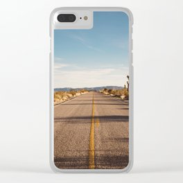Joshua Tree Road Clear iPhone Case