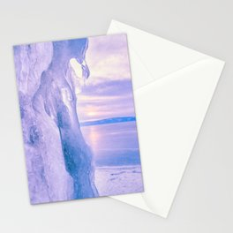 Ice cliff of Lake Baikal Stationery Cards