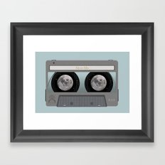 The Moon Mix Tape Framed Art Print