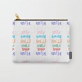 smile 3-smile,happy,fun,color,self esteem, good,positive,laugh,pleasure,joy Carry-All Pouch