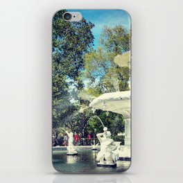 Fountain at Forsyth iPhone Skin