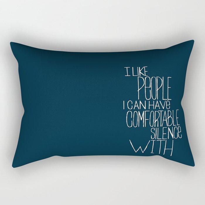 Comfortable Silence Rectangular Pillow