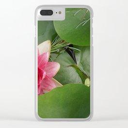 Lotus Flowe_pink1 Clear iPhone Case