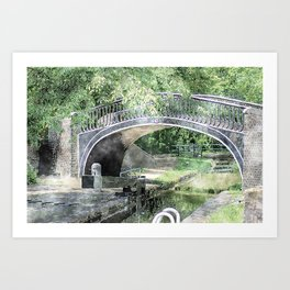 Isis Top Lock from canalsbywhacky Art Print