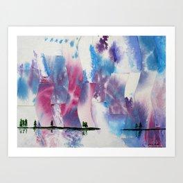 Ice river morning Art Print