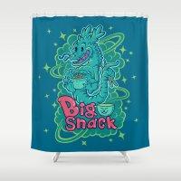 ramen Shower Curtains featuring Big Snack by albertsurpower