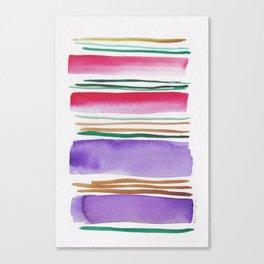 7   |181026 Lines & Color Block | Watercolor Abstract | Modern Watercolor Art Canvas Print