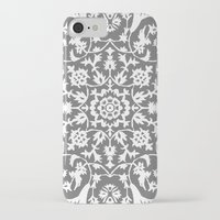 gray iPhone & iPod Cases featuring gray by MyMoonart