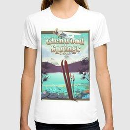 Glenwood Springs Colorado Ski poster T-shirt