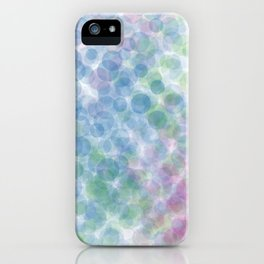 blue green red dots iPhone Case