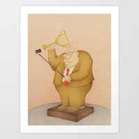 selfie Art Prints featuring Selfie  by Steve Bonello