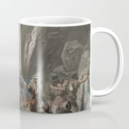 Tourists Far West Scene Canyon - Devil's Path - Stagecoach chromolithograph - Home Decor Wall Engraving Coffee Mug