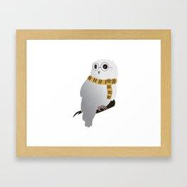 Hufflepuff Hedwig Framed Art Print