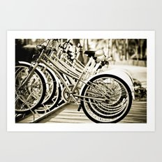 Another bike day Art Print