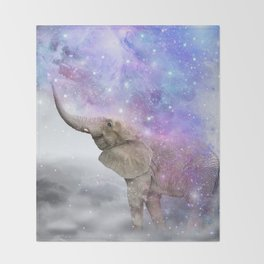 Don't Be Afraid To Dream Big • (Elephant-Size Dreams) Throw Blanket